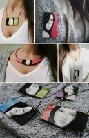 Wooden necklaces by nabey