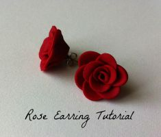 Rose Earring Tutorial by Rhiannon-San