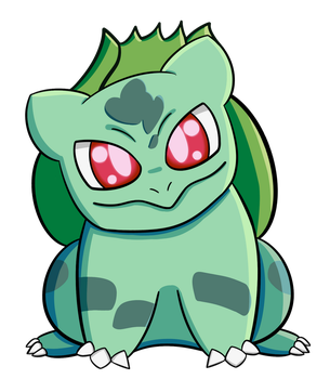 Bulbasaur hard shading by kimberley1998