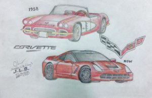 Chevy's Corvette (Old and New) by SammfeatBlueheart
