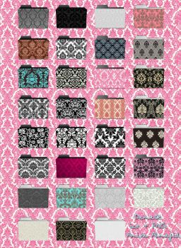 Damask style icons in ico and by amirajuli