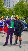 Sakura con Joker and Slade by Mackingster
