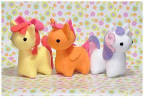 MLP - Itsy-Pony Plush - Three Very Tiny Ladies by mihoyonagi