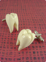 Molar Cuff Links by monsterkookies