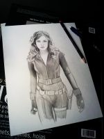 Black Widow w.i.p Speed drawing video coming!! by Pencilsketches