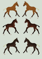 Foal Designs for SmexyHajiSan by SweetLittleVampire