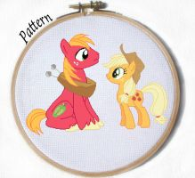 Apple Jack and Big Mac Cross stitch pattern by JuliefooDesigns