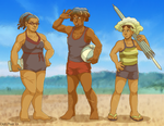 Beach Team by ErinPtah
