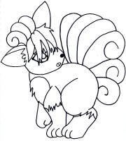 Vulpix - Lineart by Lady-Puresweet