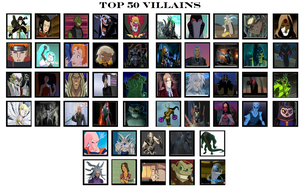 top 50 villains by Dragonprince18
