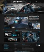 1.Watch dogs home page by PixelDesignNL