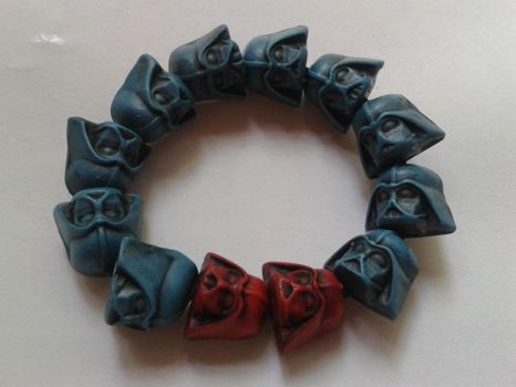 Turquoise Darth Vader Stretch Bracelet by tyney123