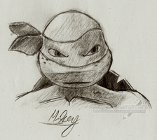 TMNT 2012 - Mikey practice by Angi-Shy