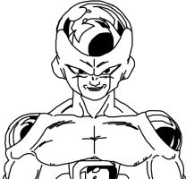 Frieza Outline by Michael-J-Caboose