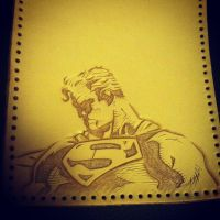 Super Man guys wallet (wip) by MerrillsLeather