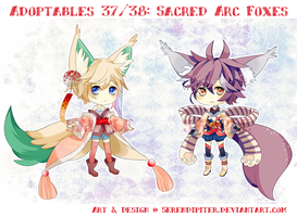 [CLOSED] Adoptables 37/38: Sacred Arc Foxes by Serendipiter
