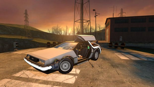 DeLorean by Master-Hugo