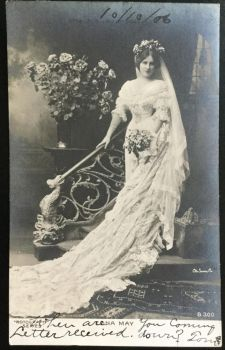 Rotograph Postcard 1906 - Bridal Gown by KarRedRoses