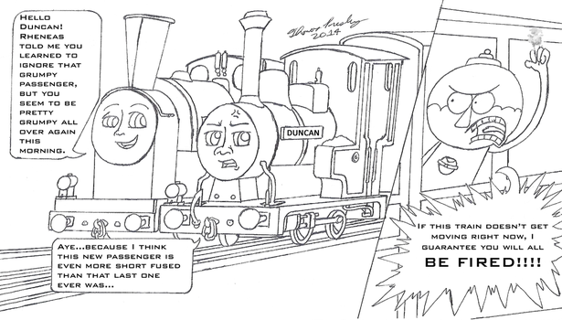 Duncan and the Even Grumpier Passenger by MeganekkoPlymouth241