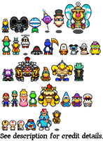 A Koopa's Tail: Various Character Sprites by RidgeTroopa