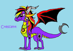 Cresent Daughter of Spyro and Cynder by rosefang16