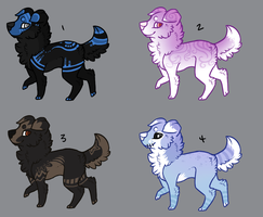 Dog Adoptables by TheseWeirdFishes