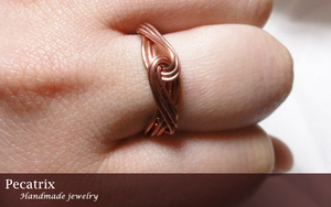 Knotted Copper Ring by pecatrix