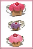 Cupcake Rings by chat-noir