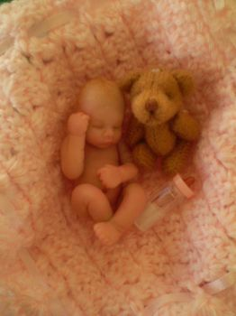 Casey OoaK Mini clay Baby -2 by AmbasItsyBitsies