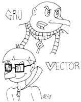Gru and Vector by melissaduck