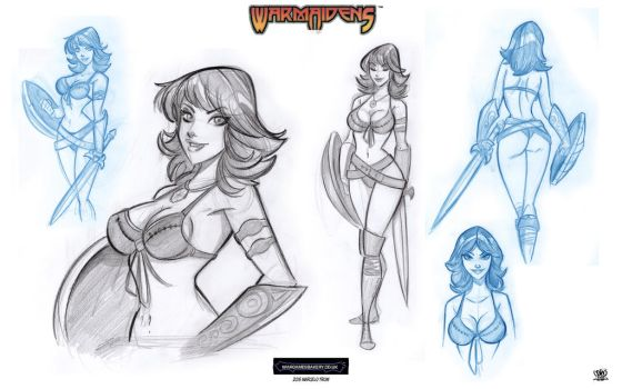 warmaidens character 2 by celaoxxx