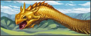 Golden Dragon by Twarda8