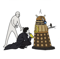 Sherlock and dalek by Basemakerofdarkness