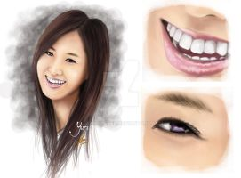 digital painting snsd yuri by landycakep