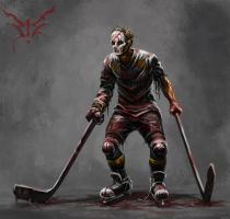 Blood hockey player by 19MiM90