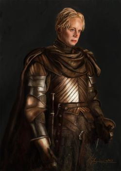 Brienne from Tarth, eyes like saphires by Indu-Art