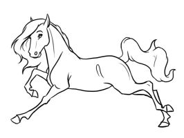 Horse Line art by gothic180