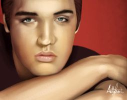 Elvis Presley Painting by arthurforzus