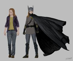 Barbara Gordon Batgirl Redesign Part I 'Year 1' by clayrodery