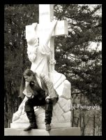 Savior to Thy Cross Cling by BloodOfJeanClaude