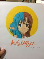 Asuna - marker practise by TheKristina