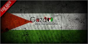 Gaza .. Stop The Massacre by RaTeD-Gfx