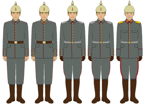 M1907/10 Feldgrau Uniform by tsd715