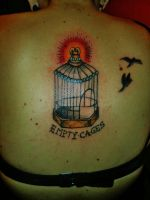 empty cages tattoo by ShellyZTrueheartInk