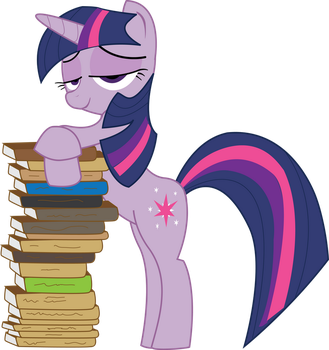 MLP FiM: Twilight Sparkle with books by Hoodie-Stalker