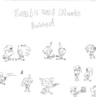 Sonic and Mario Babies by Naminedraws7