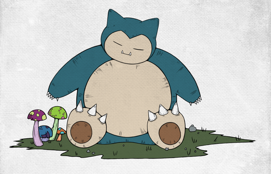 Snorlax Flats B by twitchydoo