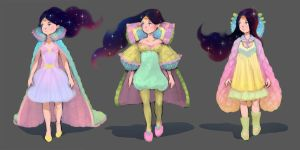 Queen Elinor's outfit design sketches by Tsvetka