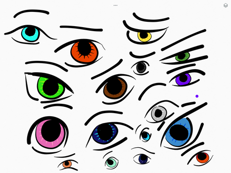 Eye Practise by Bluemist562