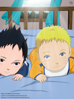 Naruto and Sasuke Baby's by hyugasosby